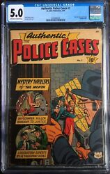 Authentic Police Cases 1 1948 Bondage Cover Cgc 5.0 Ow/white Pages