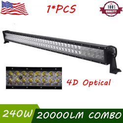 4d+ 42inch 240w Cree Led Light Bar Spot Flood Offroad Driving Truck 4wd Boat Ute
