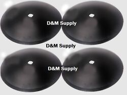4 Pack Disc Harrow Blade 18 Plain Fits 1 1/8 Square Axle Fits Many Brands