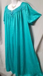 VENTURA GREEN ANKLE LENGTH  NIGHTGOWN SHORT SLEEVE SIZE 3X GIFT  60