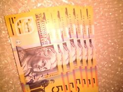 50 Dollars 2011 Prefix Ff11 Uncirculated Notes X7 Consecutive Numbers