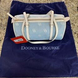 Dooney & Bourke Signature Sky Blue Barrel Bag Authentic & New W Tags & Duster
