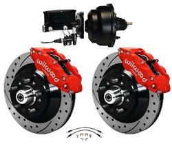 Wilwood 64-72 Chevelle A-body Power Front Disc Big Brake Kit Drilled 13