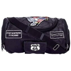 MOTORCYCLE LUGGAGE LEATHER LARGE PANNIER SEAT SADDLE BARRELL BAG HARLEY CHOP