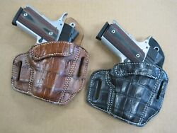 Azula Alligator Owb Two Slot Pancake Belt Holster Ccw For.. Choose Color And Gun 1