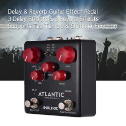NUX Delay & Reverb Guitar Effect Pedal Dual Footswitch 3 Delay + 3 Reverb X7X7