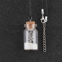 Glow in the Dark Fairy Wish Bottle Necklace Magic Pixie Dust Magical Ang