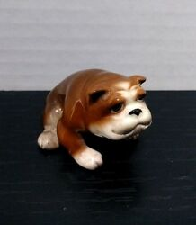 Vintage Ceramic or Porcelain Miniature Bulldog Figurine