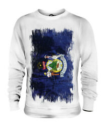 Maine State Grunge Flag Unisex Sweater Top Mainer Shirt Jersey Gift