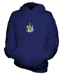 Maine State Scribble Flag Unisex Hoodie Top Gift Mainer Football