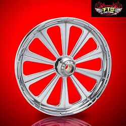 2008-2019 Harley Chrome 23 Inch Front Wheel Floating Rotors Redemption