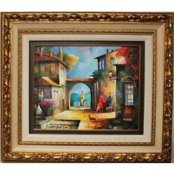 Sumer Breeze By Alex Grinshpin An Original Oil Painting, Framed Beautifully