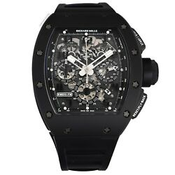 Richard Mille RM 011 Black Phantom PVD Ceramic Carbon Rubber Watch