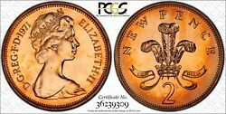1971-2p Great Britain Bu Pcgs Pr65rd New Pence Toned High Grade Only 7 Higher