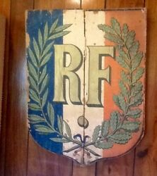 Rf French Two 1930s French Soldier Shield Rf