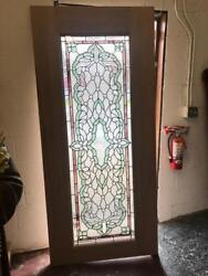 Beautiful Hand Made Stained Glass Leaded Interior Or Exterior Door - Jhl2167-25a