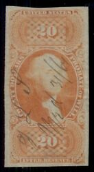 Us R99a 20.00 Probate Of Will, Imperf, Used, Vf, Miller Cert, Rare Stamp