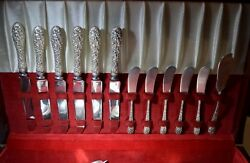 Rose By Stieff Sterling Silver Flatware Set With Many Servers Free Shipping