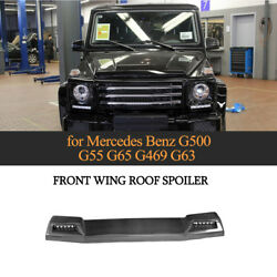 Carbon Front Roof Spoiler Fit for 13-17 Mercedes G500 G550 G63 G65 With LED DRL