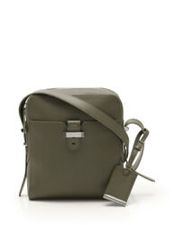 BVLGARI buckle messenger shoulder bag leather green