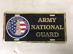 """""""Army National Guard"""" Vintage Novelty Metal License Plate Military Army Navy Air"""