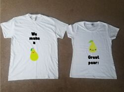 A Great Pear Heart Twin T shirt Set Partner Valentine His and Her Lovers Gift