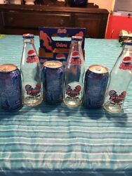 Fl Gators 1906-2006 100 Years Glass 3 Pepsi Bottles Great Case And 3 Cans