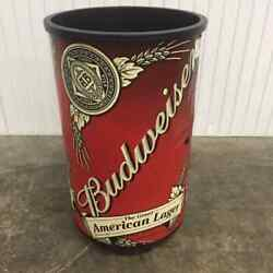 Budweiser Sign Can Rolling Cooler Store Promotional Awesome Rare 2008