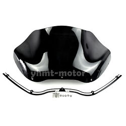 Black Wave Windshield + Windshield Trim Fit For Touring Road Glide 1998-2013