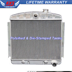 Kks 3 Row Aluminum Radiator Fit 1955-1957 1956 Chevy Bel Air 6 Cyl Core Support