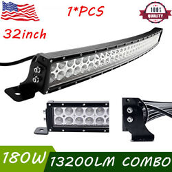 32inch 180w Curved Led Light Bar Slim Spot Flood Offroad Ford Ute Driving Truck