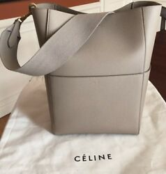 CELINE Seau Sangle Beige Bucket Bag