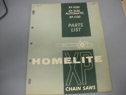 Homelite Xp-1020 Xp 1020 A,xp1130 Chainsaw,older Homelite Illustrated Parts List