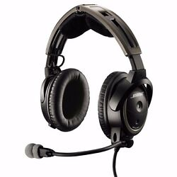 Bose A20 Anr Aviation Headset Battery Powered W/ Ga Dual Plugs And Bluetooth