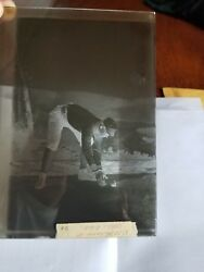 1886 Old Judge N172 / N173 Glass Plate Negative Whitacre - Athletics Rare....