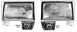 Ford Mustang Headlight / Headlamp Assembly Set Left And Right 1987-1993 Dynacorn