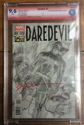 Daredevil 1 Ross Sketch Variant Cbcs 9.6 Signed Bill Sienkiewicz And Dave Mack