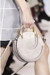 Chloe Motty Grey Pixie Suede Calfskin Leather Crossbody Small Handbag $1490