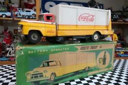 Coca Cola 1950s Vintage  Antique Made in Japan ROUTE TRUCK for COCA COLA J53