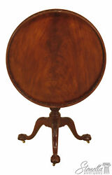 30352ec Baker Stately Homes Collection Round Tilt Top Mahogany Table