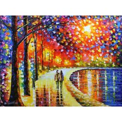 Leonid Afremovand039s - Spirits By The Lake - Original Oil On Canvas