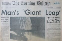 MAN 'S GIANT LEAP - MAN ON MOON ARMSTRONG ALDRIN APOLLO 11 KENNEDY July  21 1969