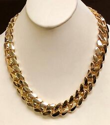 18k Solid Yellow Gold Miami Cuban Curb Link 34