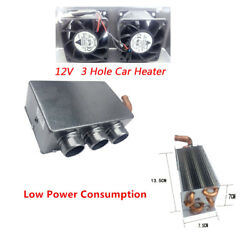 Car 3 Hole Portable Auto Heating Cooling Heater Defroster Demister Energy-saving