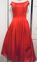 TWO PIECES! Christian Dior Red Cocktail Dress F 36 US 4 MSRP $7K NWT Tulle Skirt