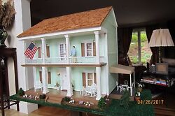 Price Cut Of 500 Vintage Fully Furnished Real Good Toys Colonial Dollhouse