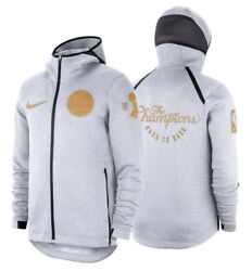 Nike Golden State Warriors Trophy Ceremony On-court Showtime Therma Flex Hoodie.