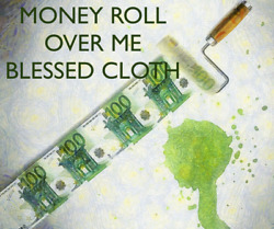 Money Roll Over Me Voodoo Banner Altar Cloth Ritual Spell Kit Success Cash
