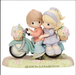 Precious Moments Boy And Girl Bicycle Life With You Beautiful Journey New 182009