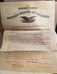Antique Wwi 1917 Presidential Appointment Of Commission Telegram Paul Kerr